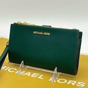 Michael Kors Large Double Zip Wallet Wrist…